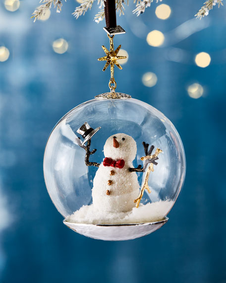 Snowman Globe Christmas Ornament