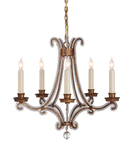 Oslo Gilded-Iron 5-Light Mini Chandelier