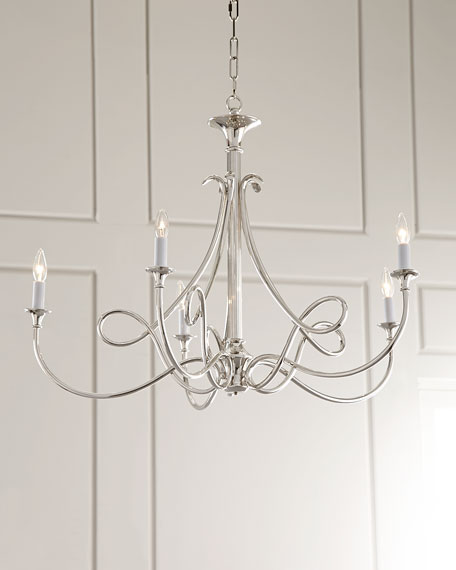 double twist 5light chandelier