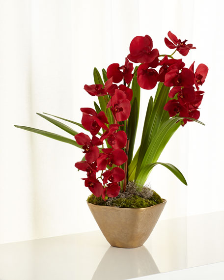 Caribbean Red Faux-Floral Arrangement
