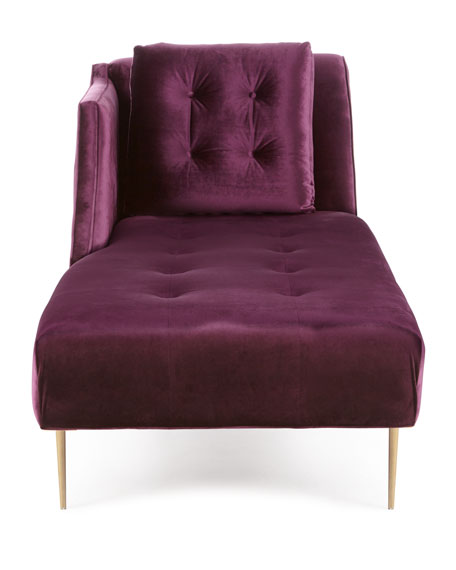 Salon Button-Tufted Chaise