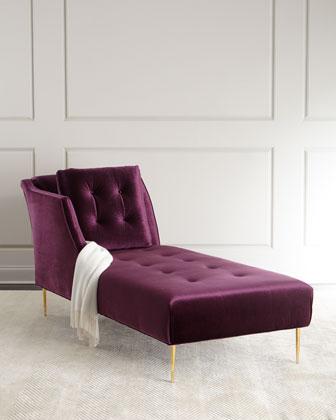 Salon Button-Tufted Chaise
