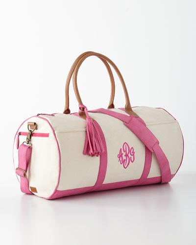 Pink Monogrammed Duffel Luggage