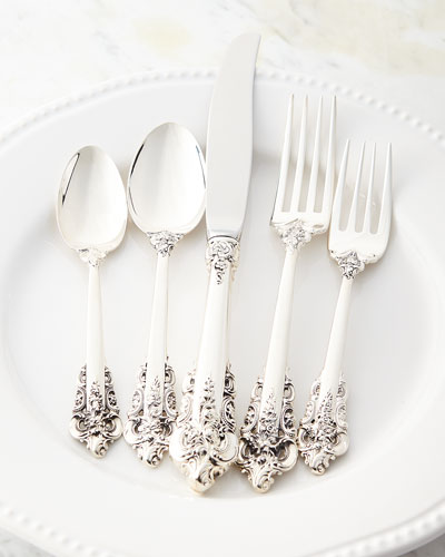 46-Piece Grande Baroque 75th Anniversary Flatware Service