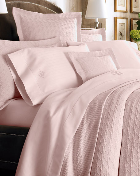 Two Standard Marcus Collection 400TC Dotted Pillowcases