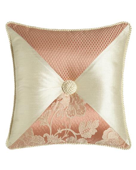 "Primrose Pieced Pillow, 18""Sq."