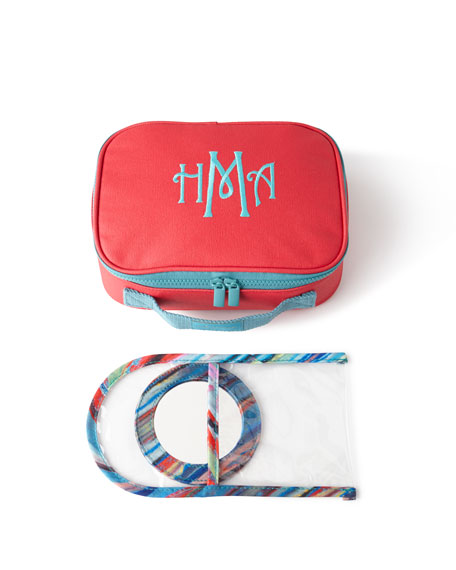 Monogrammed Small Train Case Luggage