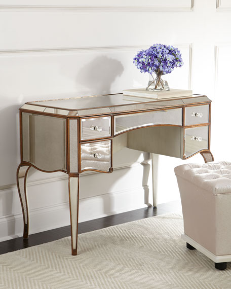 Beau Claudia Mirrored Desk