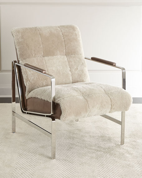 Massoud Paz Shearling Chair