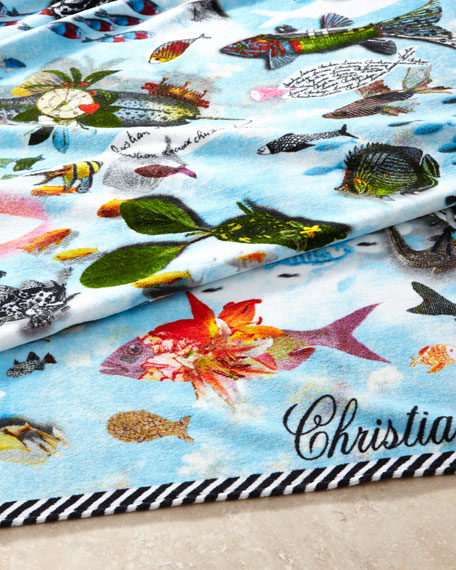 Beach Towel Online: Christian Lacroix Peche Miraculeuse Beach Towel