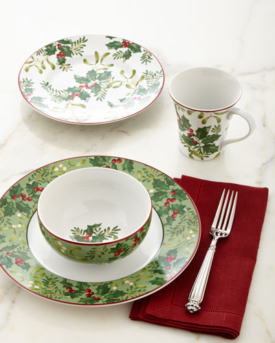 16-Piece Christmas Foliage Dinnerware Service