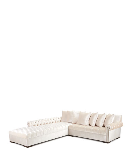 """Divine Tufted Left Chaise Sectional 157"""""""