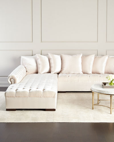 Divine Tufted Left Chaise Sectional : tufted sectional sofa with chaise - Sectionals, Sofas & Couches