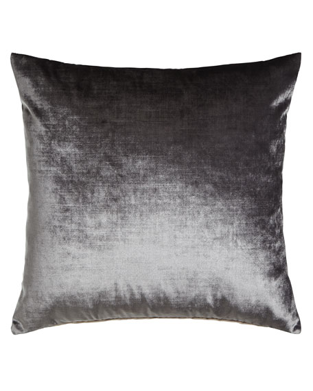 Venice Charcoal Knife-Edge Pillow