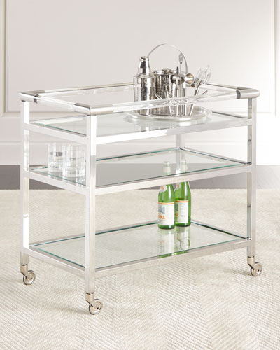 Reed Nickel Bar Cart