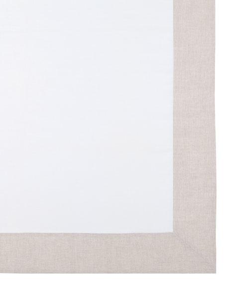 """Hamptons Beige Tablecloth, 70"""" x 108"""""""