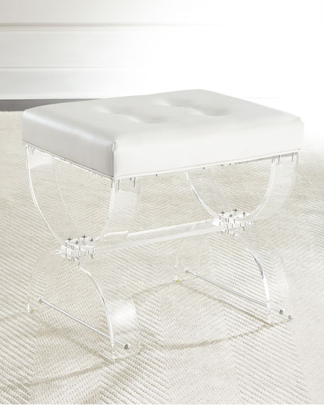 Nels Acrylic Vanity Seat