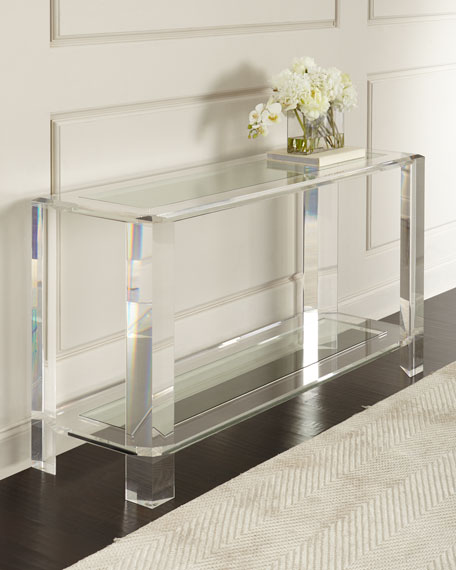 Interlude Home Landis Acrylic Console Table