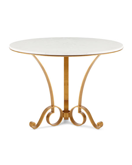 Bassani Marble-Top Entry Table