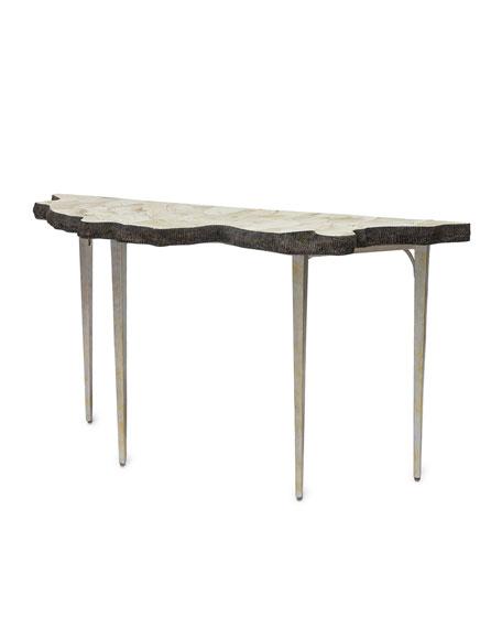 Fabulous Ursula Fossil Console Table Spiritservingveterans Wood Chair Design Ideas Spiritservingveteransorg