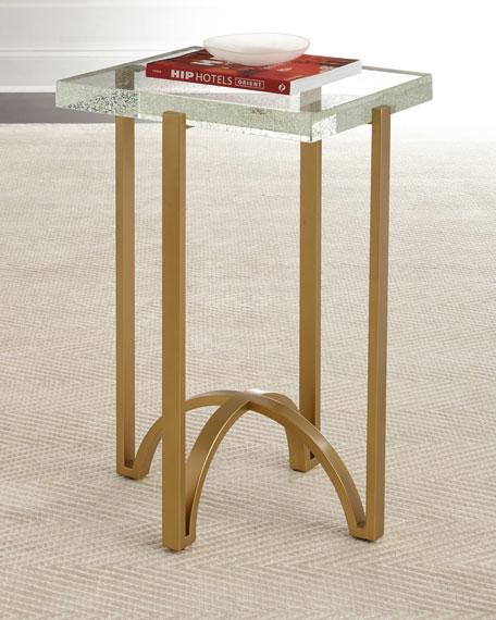 Hooker Furniture Kingman Glass Top Side Table