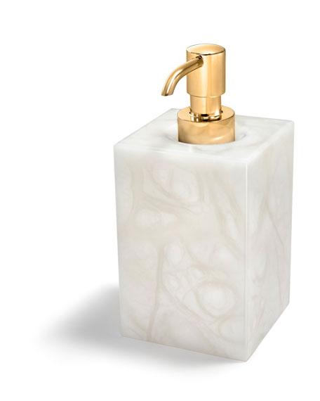 Tessuto Pump Dispenser with Golden Hardware