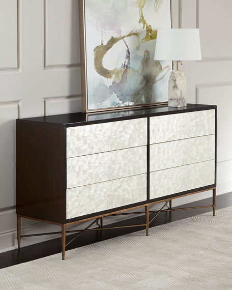 Bernhardt Adagio Dresser w/ Inlaid Capiz Shells