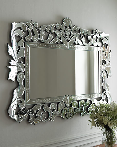 Decorative wall mirrors floor mirrors at horchow for Miroirs decoratif