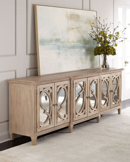 Hooker Furniture Lonnie 6 Door Mirrored Console
