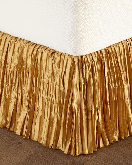 King Pink Pavilion Silk Dust Skirt