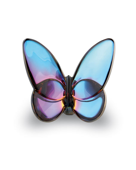 Baccarat Lucky Butterfly, Blue Iridescent