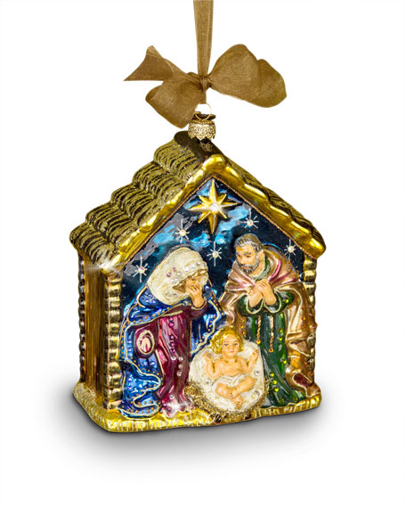 Jay Strongwater Holy Family Christmas Ornament
