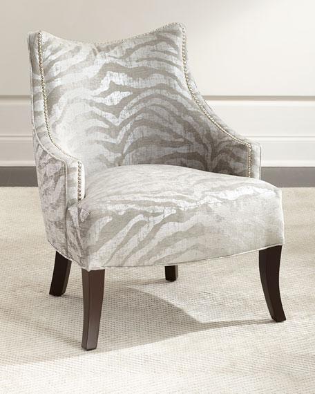 Lilia Animal-Print Chair