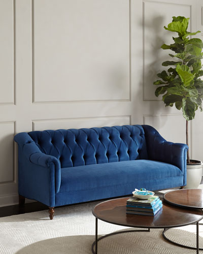 Raina Tufted Velvet Sofa 84