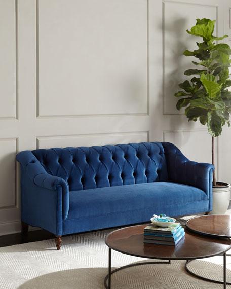 Haute House Raina Tufted Velvet Sofa 84