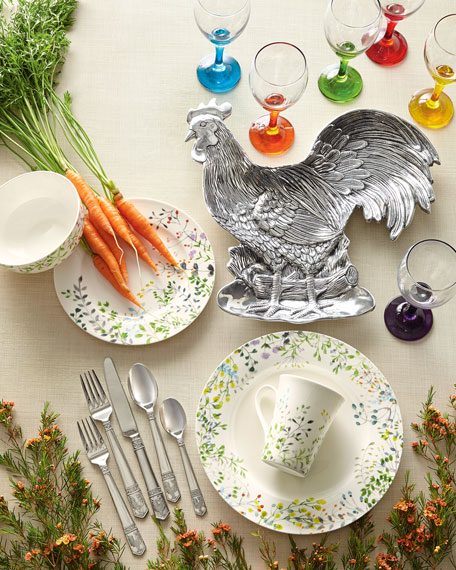 45-Piece Rooster Flatware Service