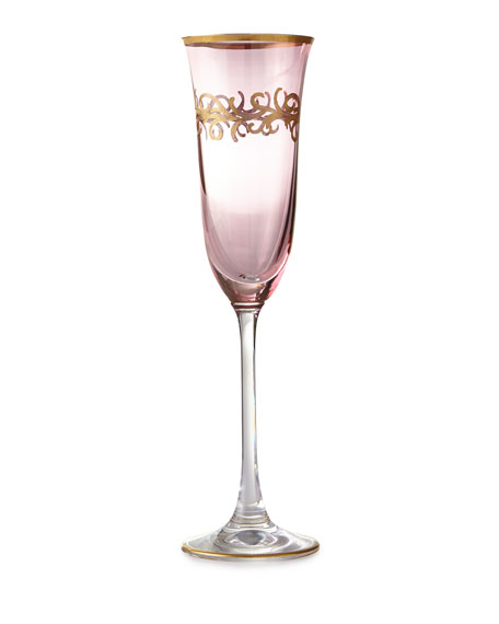 Blush Oro Bello Champagne Flutes, Set of 4
