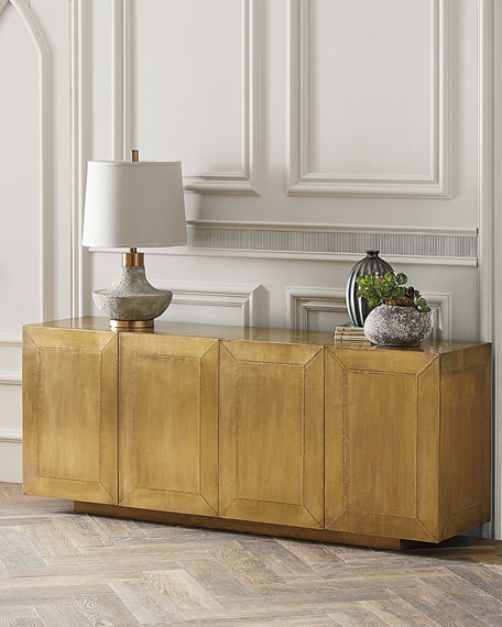 Aged Brass-Covered Sophie Console