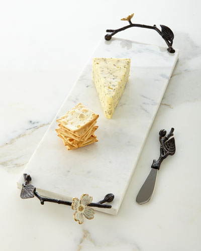 Small Dogwood Cheese Board/Knife