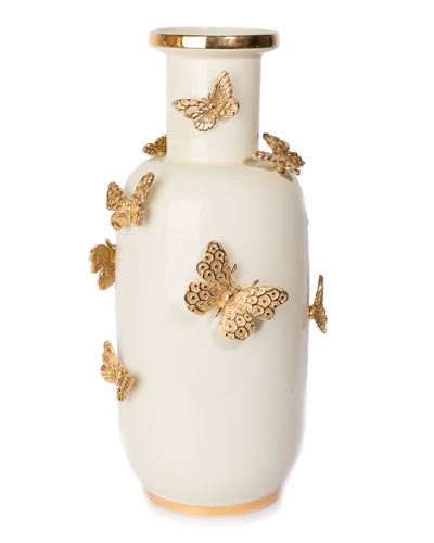 Heather Butterfly Vase