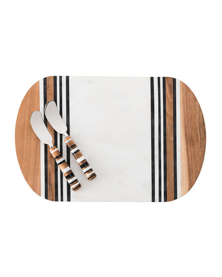 Stonewood Stripe Serving Board & Spreaders