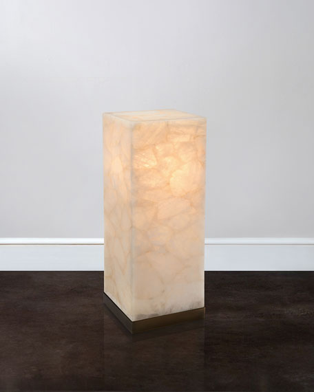 "30""T Lighted Calcite Pedestal"