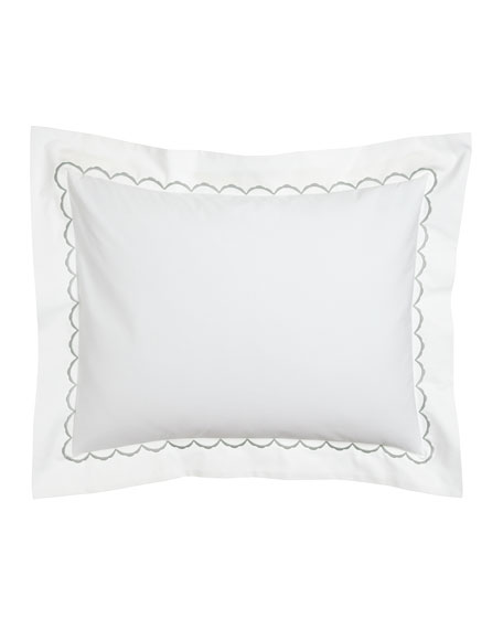 Matouk King Scallops Embroidered Sham
