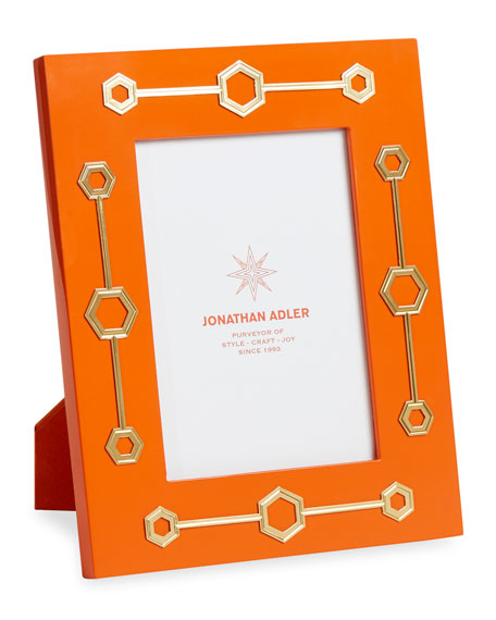 "Turner Lacquer Picture Frame, Orange, 5"" x 7"""