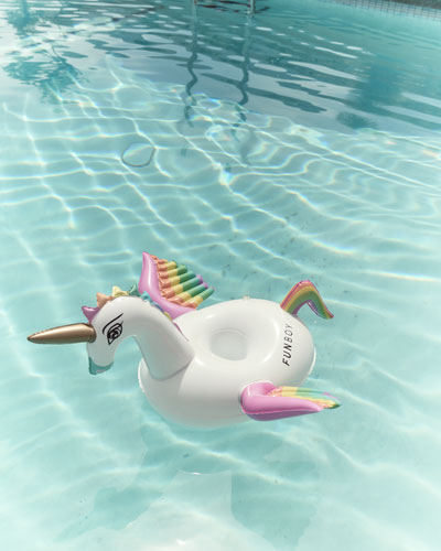 Unicorn Drink Holder Pool Float