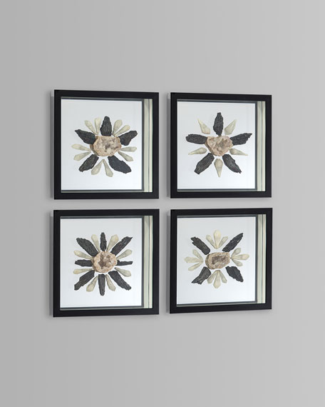 Ice and Coal Wall Decor, Set of 4