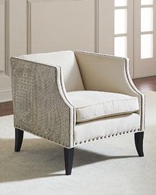 Bernhardt Alanis Leather Accent Chair