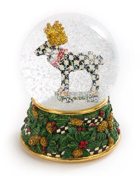 Moose on Parade Snow Globe