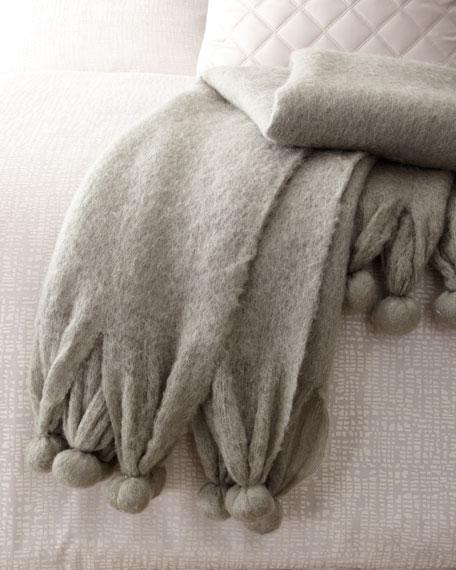 Pom Pom Throw Blanket