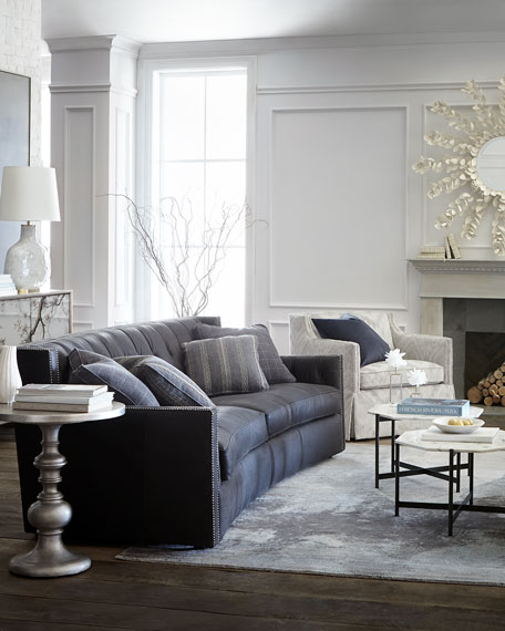 """Everett Tufted Leather Settee In 2019: Bernhardt Madeline Tufted Leather Sofa 96"""""""